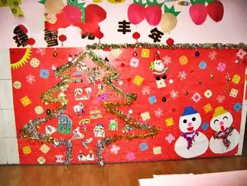 幼儿园春节主题墙 手工创意来袭!欢欢喜喜过大年!
