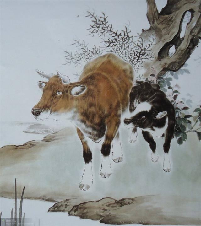 【工笔画-短毛动物】羊,牛的几种画法
