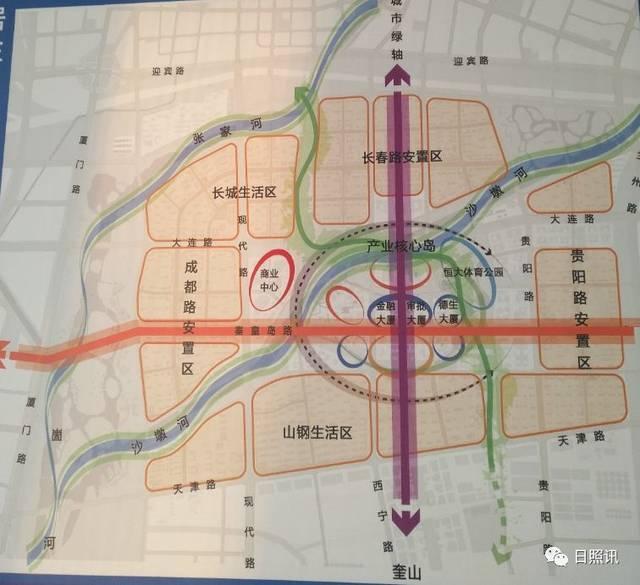 日照机场安置区规划图