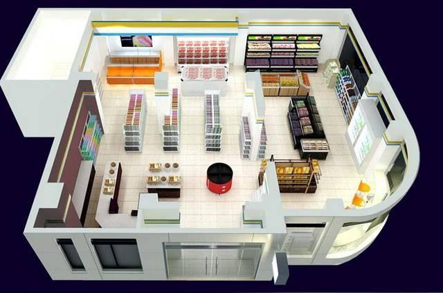 重庆便利店装修设计要点与装修风格效果图「重庆古星施工」