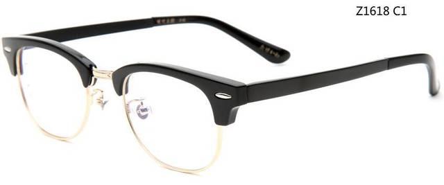 竹川木野_竹川木野 z1618 黑金半镜框眼镜
