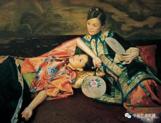 少女漏b艺术_中国油画:总该有一些如花的少女 被艺术养育
