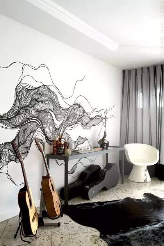 美学| 看看人家的手绘墙,你家的只能叫墙!