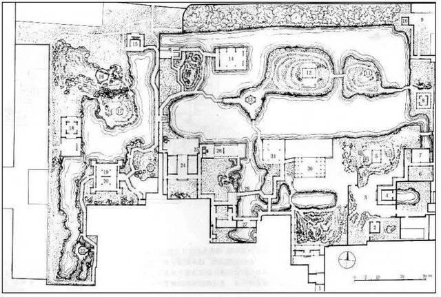 拙政园 平面图