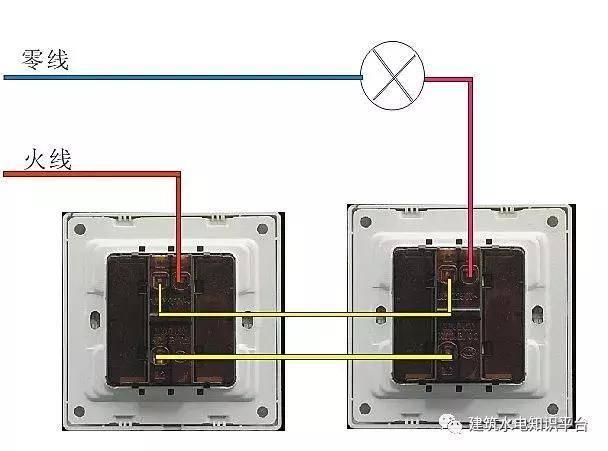 你要找的家庭电路控制电路实物接线图,开关控制电路都