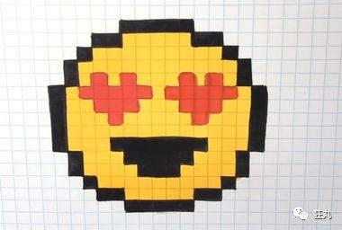 用普通的方格本就能画出一个像素表情包丨每日教程