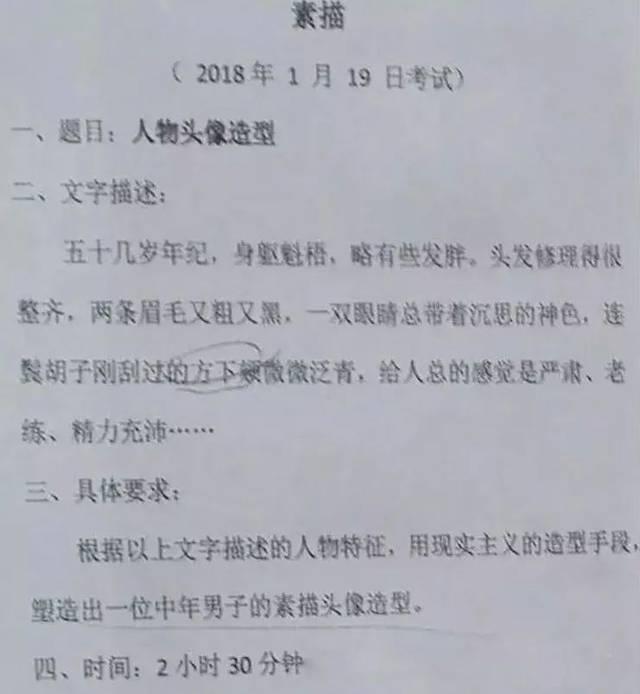 2018年校考考题(西美,广美,川美,湖美)图片