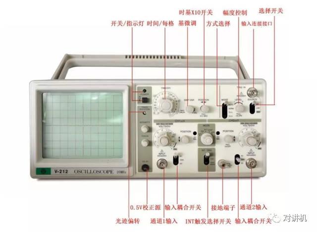 示波器示意�_美创 v-212 示波器,波段宽度 20mhz.各项示意图如下