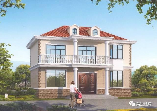 12x8米标准农村自建房别墅,样式美观户型实用才是王道