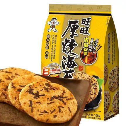 两米高美女旺旺_热量有点高 说到旺旺 大家吃的大多数是雪饼和仙贝 但素这款厚烧海苔