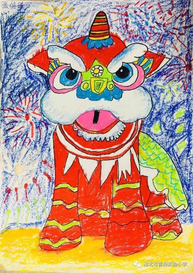 """淮北市首府实验小学""""我们的节日·春节""""绘画大赛结果出炉啦图片"""