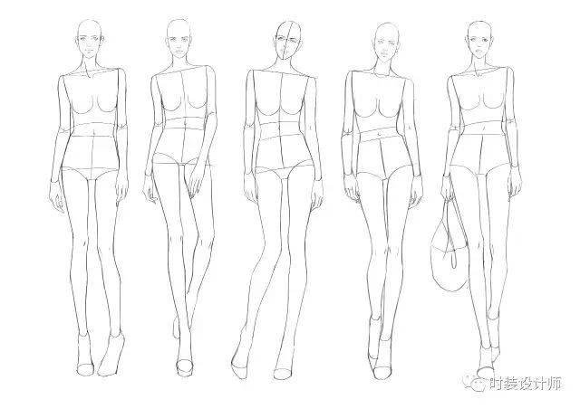 朝香美穗人体_丁香老师绘制 时装画表现的是服装的美感和服装在人体上穿着的预期