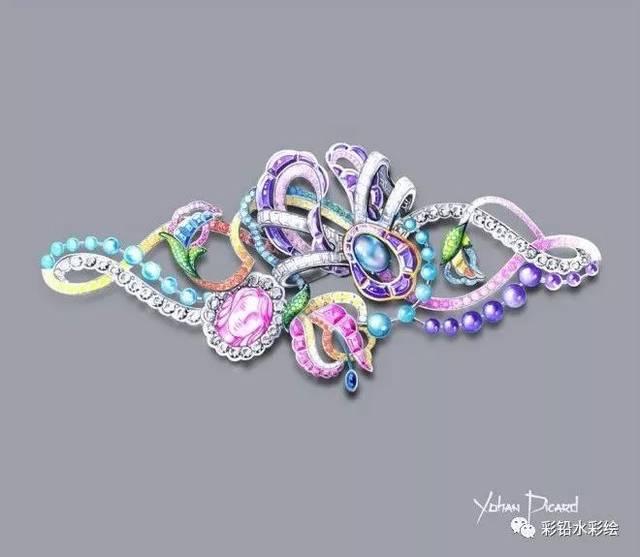 免费领取《756张珠宝首饰设计彩铅/水彩/素描手绘素材图片