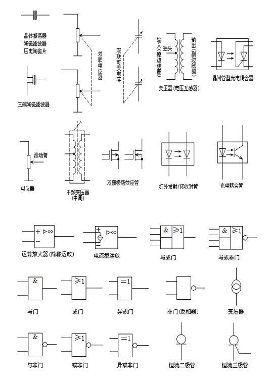 分享| 电路图符号大全 cad电路图纸