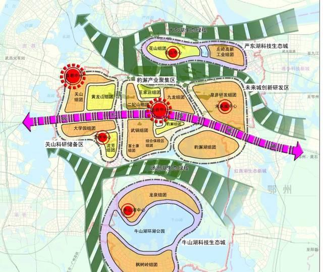 洪山区地图全图
