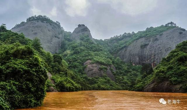 赣县三溪乡的寨九坳,岩壁陡峻,奇峰百态,是一处典型的丹霞地貌.
