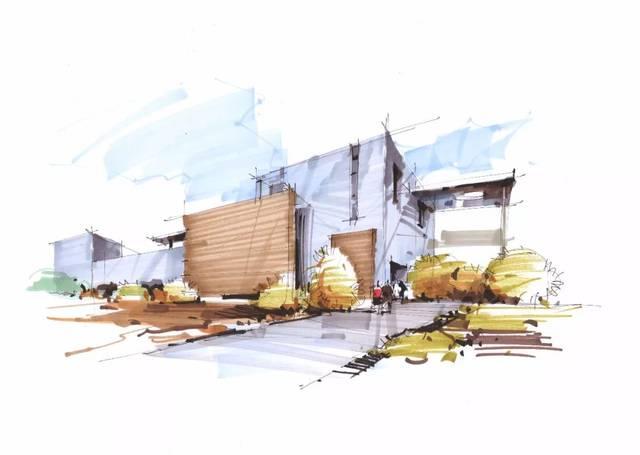 画前观察大的建筑的形体(正方形,长方形等),去对物体进行概括提炼. 2.图片