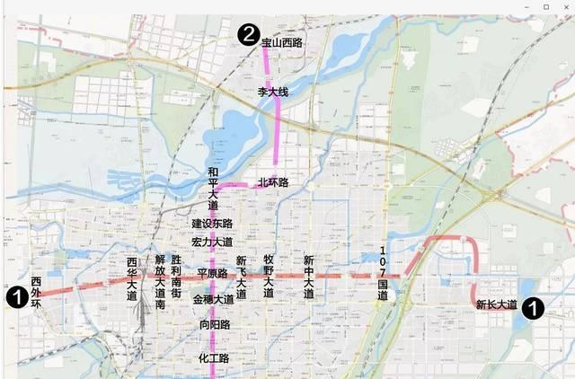 新乡平原新区地图