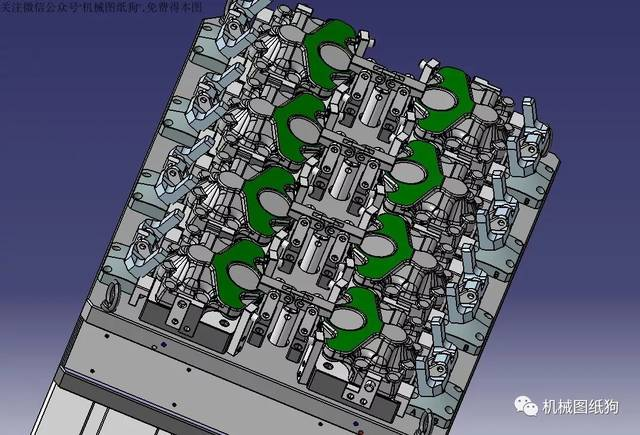【工程机械】加工中心液压夹具3d模型图纸 igs格式