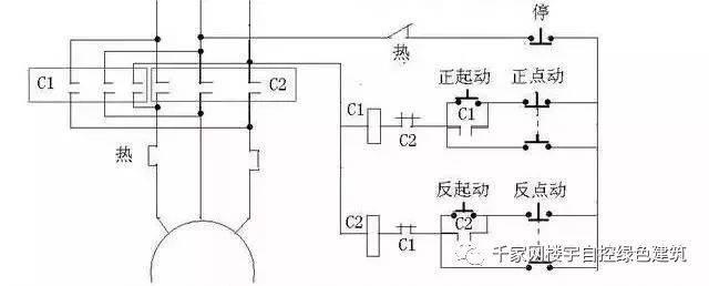 11,带点动的正反转起动电路