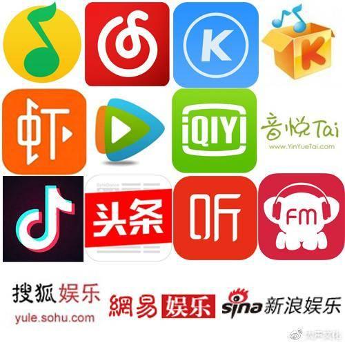 (如:搜狐娱乐,网易娱乐,新浪娱乐,粉丝网,凤凰网等)