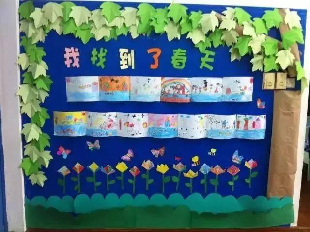 幼儿园寻找春天主题墙,幼师们寒假也要做材料收集!