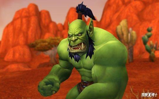 兽人年下攻漫画_艾泽拉斯兽人因为喝下了恶魔之血,所以皮肤呈现绿色.