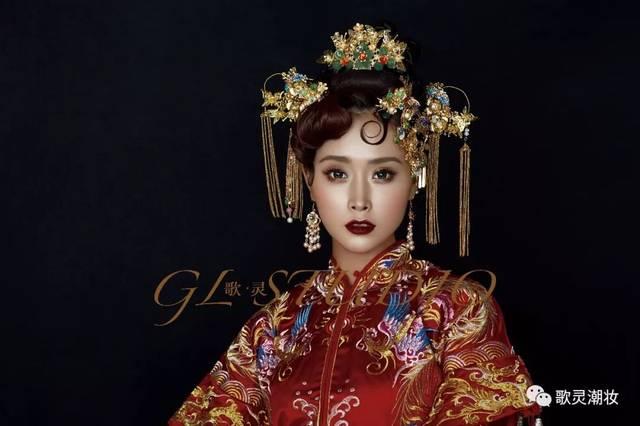 """那些關于""""秀禾""""的妝容造型-中式新娘妝""""喜服""""秀禾妝的圖片"""