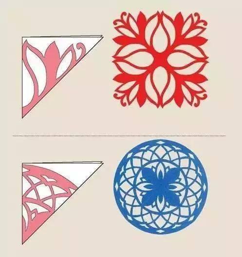 五折剪纸步骤 画法 窗花