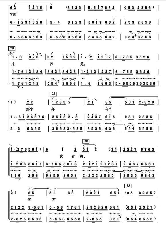 新春序曲笛子简谱