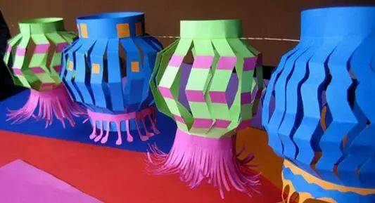 花灯制作 制作 流程 进行构思,在纸上画出你想要制作的花灯样式 制作图片