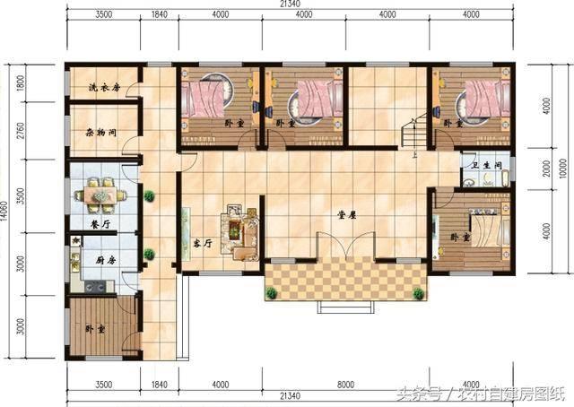 6款农村别墅设计图,带独立厨房有柴火灶,开春建房不用