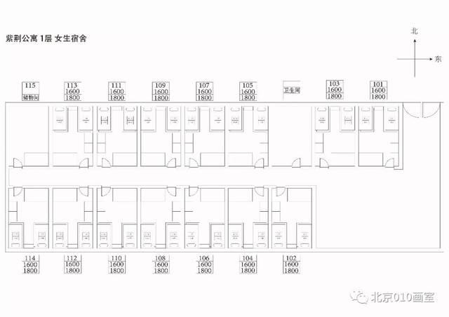 紫荆公寓1层标准四人间图片