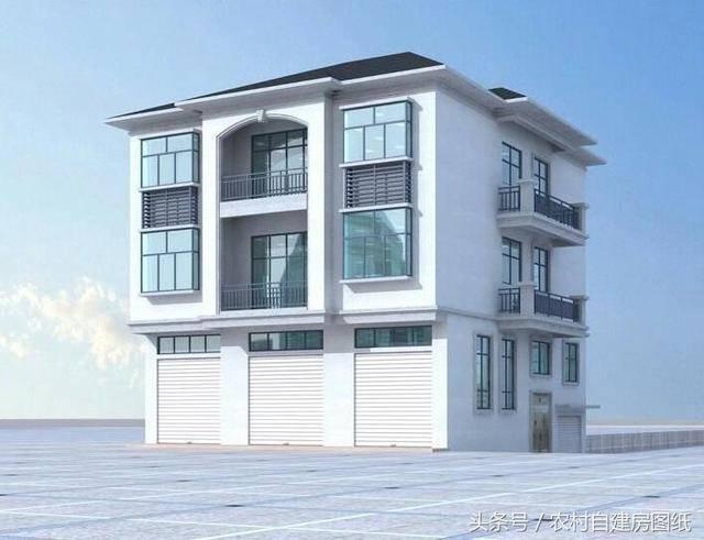 3款带门面商住房农村建房设计图,第1款最实用,第3款很图片