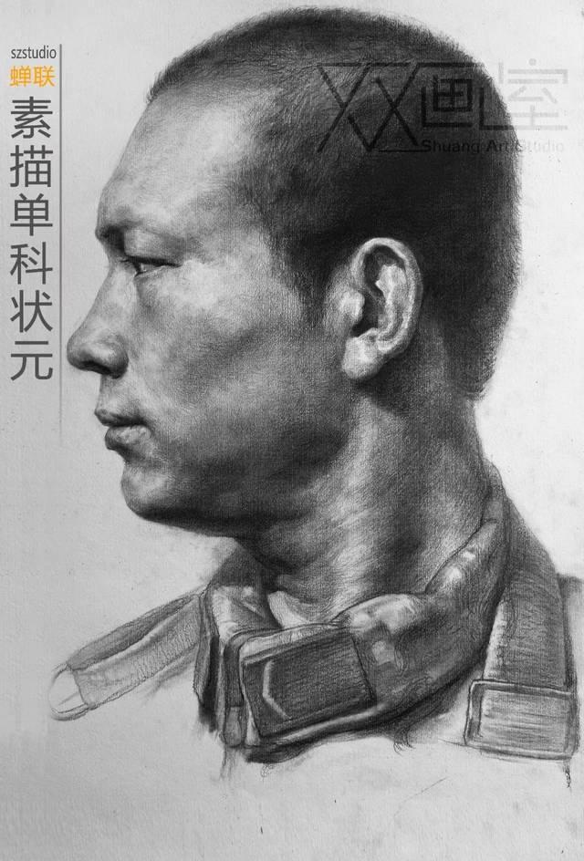 高考  双画室素描示范视频《上海美术联考09年试卷》图片