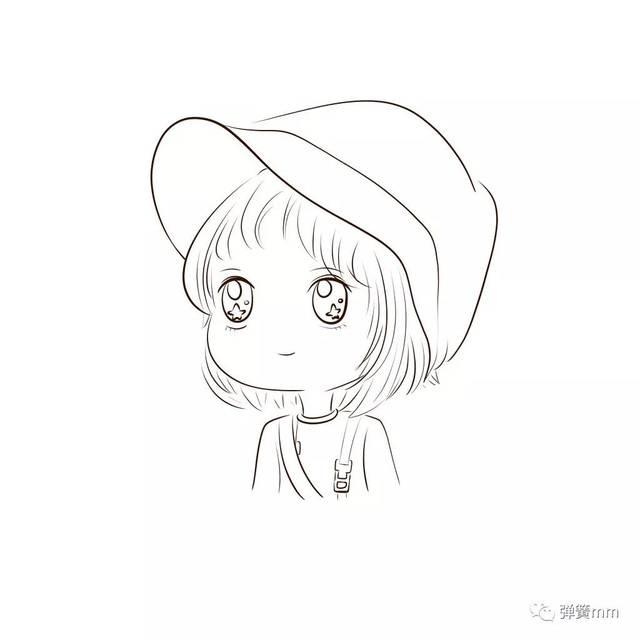 刘昊然郑爽q版头像手绘教程!学会了画自己的爱豆!图片
