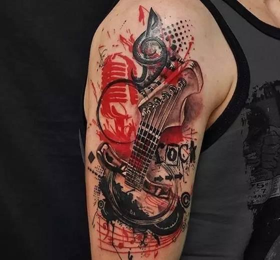 几何纹身带来的美感!