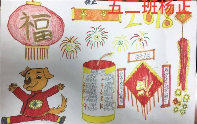 春节美食手抄报简笔画图片大全集图片