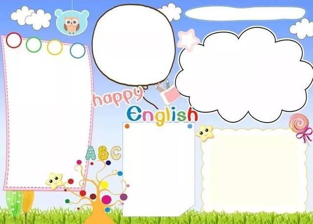 【趣味英语】有创意又好看的英语手抄报,看这里!