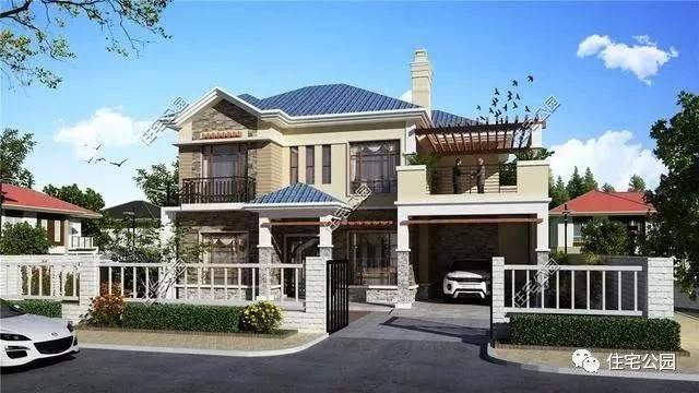 30万自建农村别墅13x15米,最美造型4种户型布局,你最喜欢哪个?