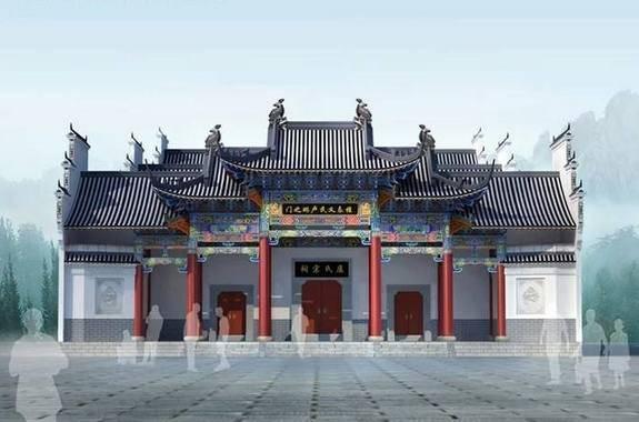 古建筑设计效果图施工图(寺庙设计,宗祠设计,牌楼设计图片
