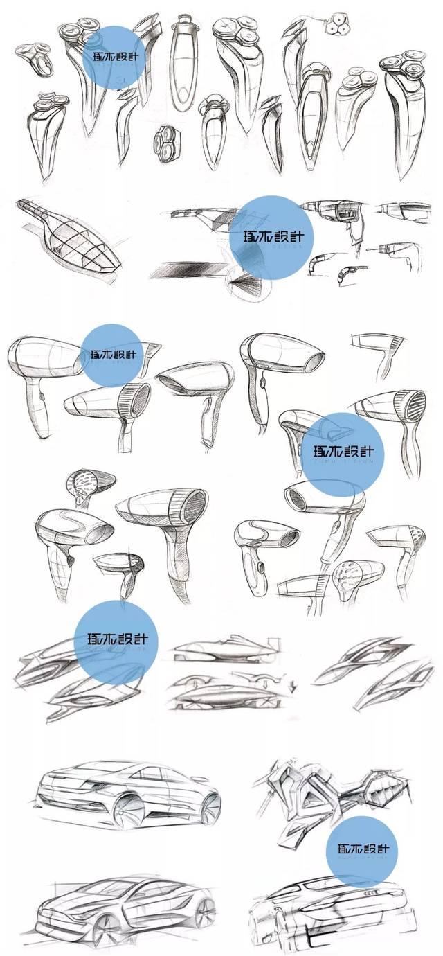 琢木设计-工业设计手绘基础训练过程与方法-中国杭州