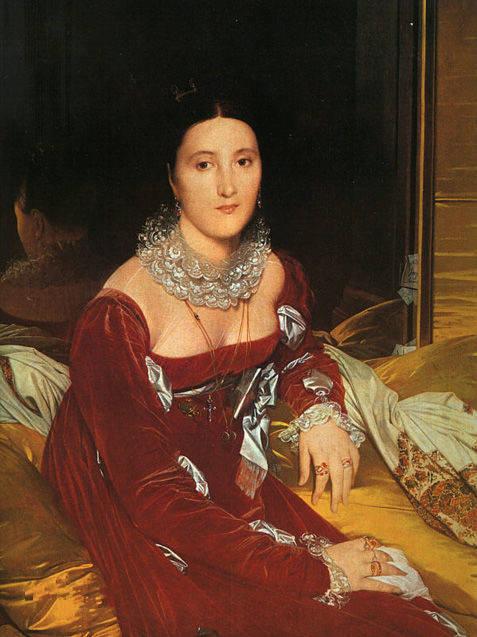 有那么一副油画,一个女的衣服穿的很凉快,然后抱着一个坛子.图片