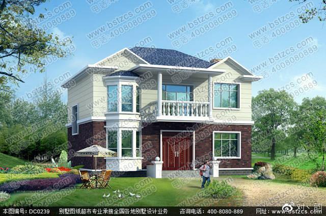 占地100平方左右农村二层自建房设计效果图