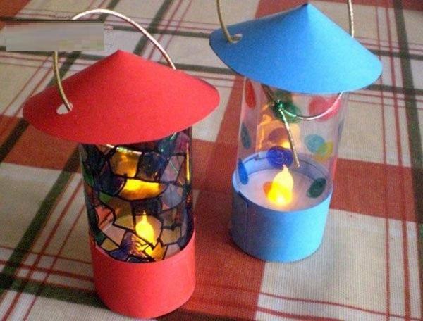 幼儿园手工,三八节必备手工纸杯灯笼,简单易学,赶快教图片