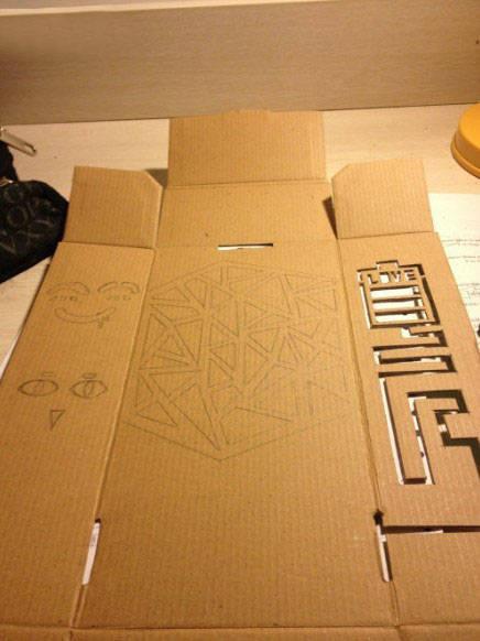 废旧纸箱疯狂变身个性灯罩 废旧纸壳手工制作教程