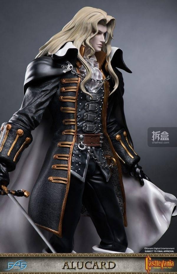 first 4 figures《恶魔城:月下夜想曲》阿鲁卡多alucard 21寸雕像