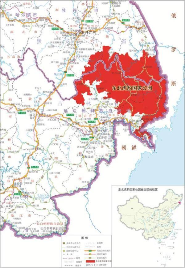 东北虎豹国家公园规划征求意见:将疏通虎豹迁移扩散生态廊道图片