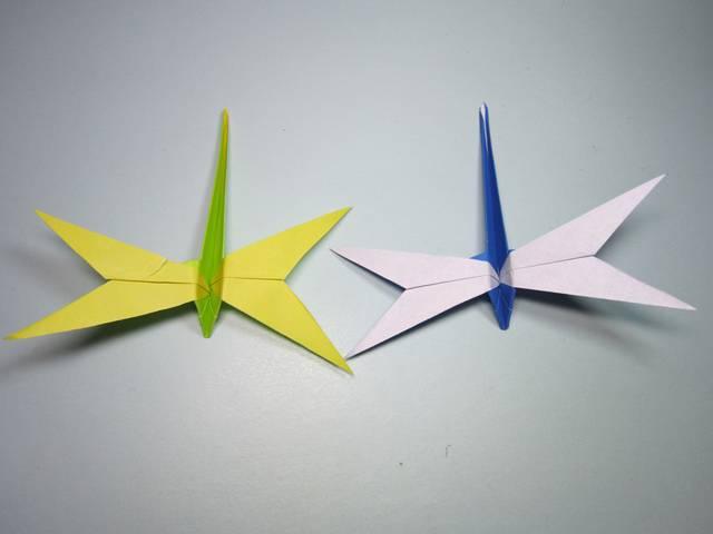 簡單的小動物折紙,小蜻蜓的折法視頻,diy手工制作圖片