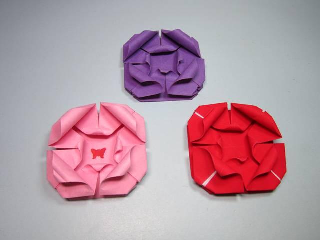 儿童手工折纸玫瑰花,简单不一样的玫瑰花折法教程